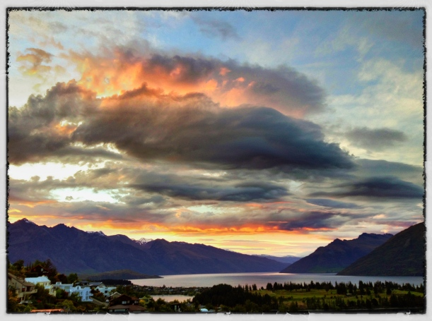 Saturday Morning Sunrise in Queenstown, New Zealand