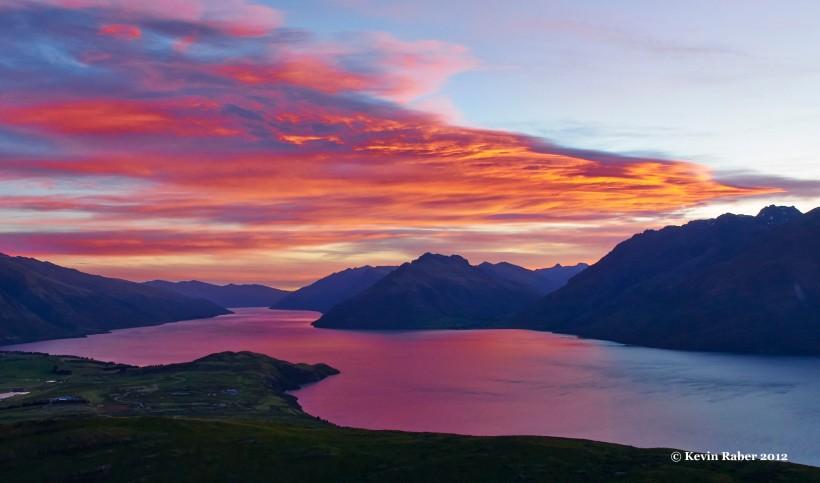 Sunset from Deer Park, Queenstown, New Zealand