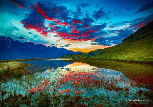 Deer Park Sunrise, Queenstown, New Zealand