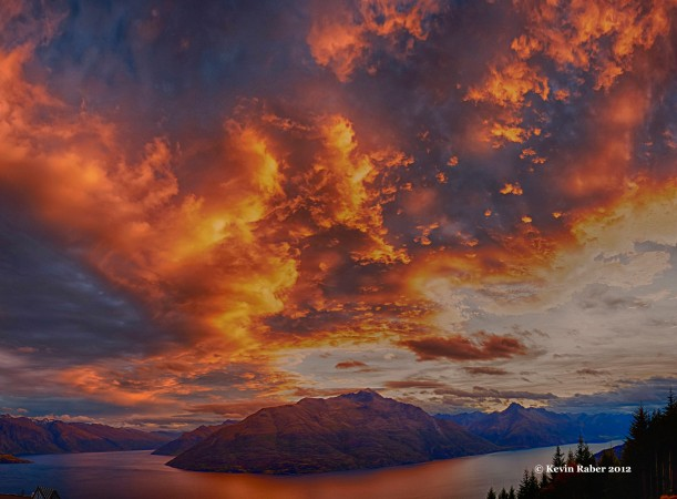 Sky On Fire, Queenstown, New Zealand