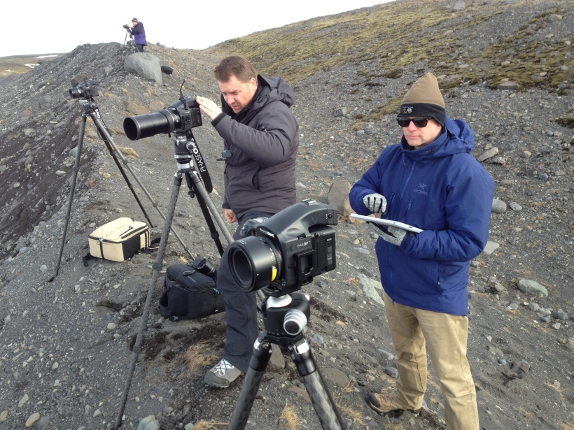Josh Holko an Andy Biggs shoot with the IQ260 using the iPad, in Iceland
